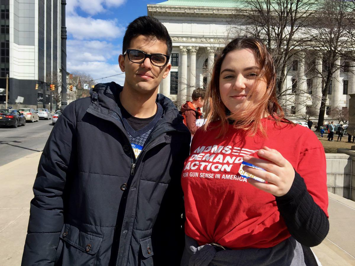 Albany March for Our Lives Kaelyn and Hamza