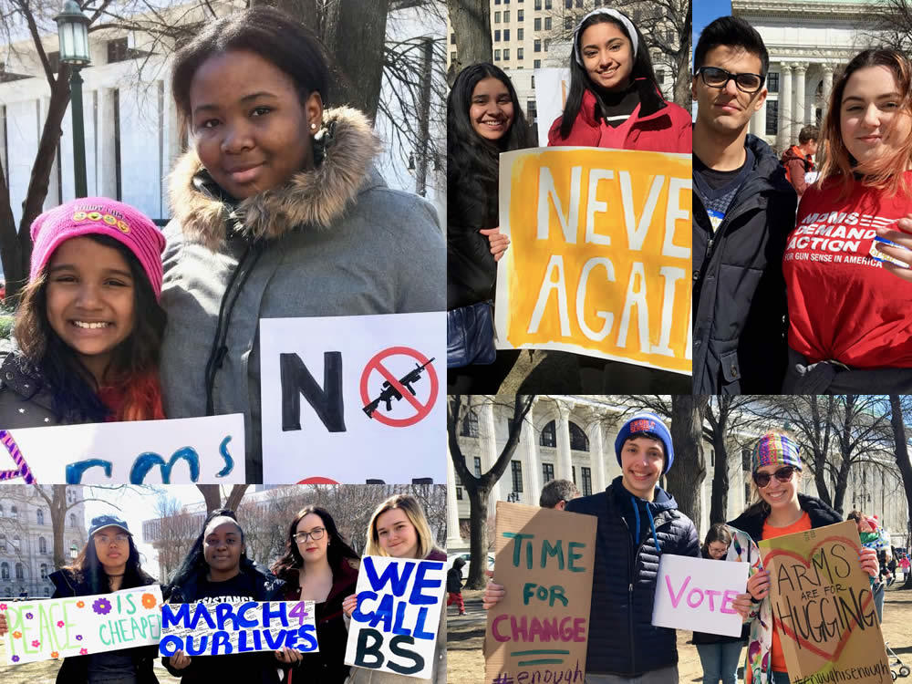 Albany March for Our Lives students composite