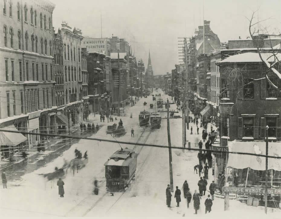 Albany N Pearl Street 1891 winter