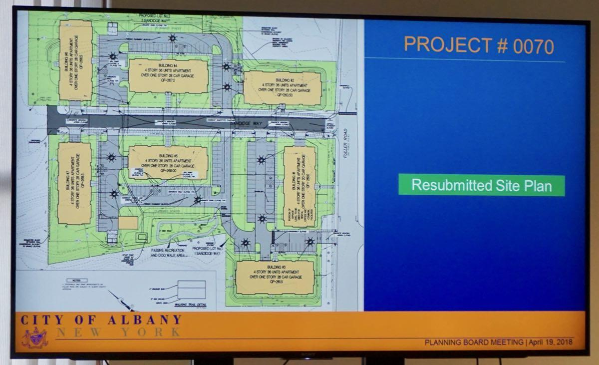 Albany Planning Board 2018-04-19 Sandidge Way site plan