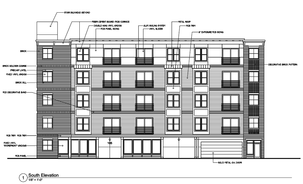 Albany Planning Board 2018-August 105 Morris Street front elevation