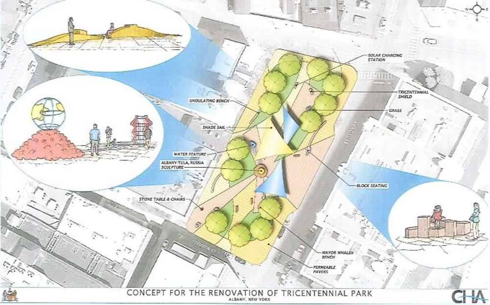 Albany Tricentennial Park proposed makeover