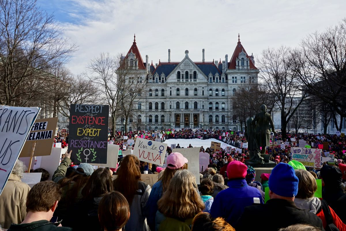 Albany Women's March at Capitol 2018-01-20