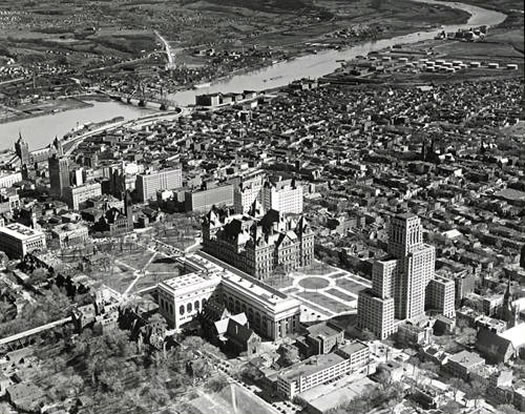 Albany aerial view 1937