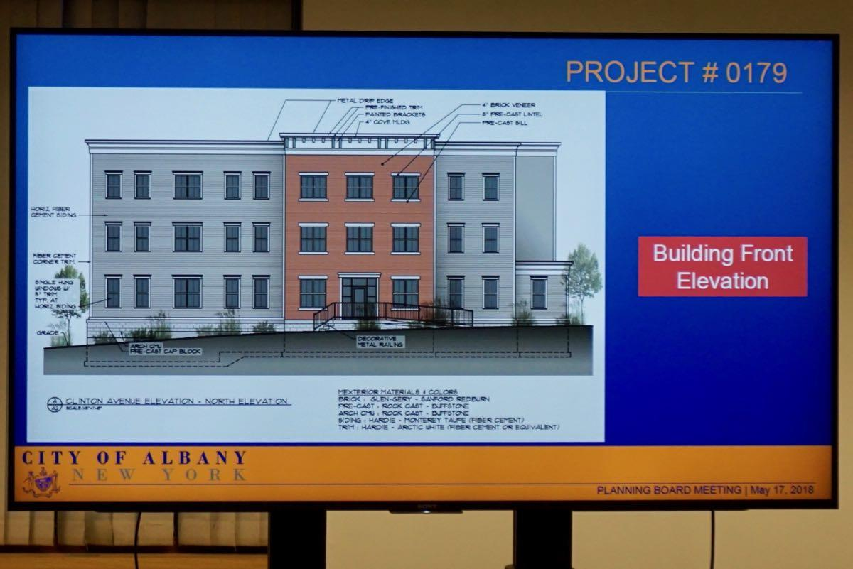 Albany planning board 2018-05-17 104 Clinton Ave elevation