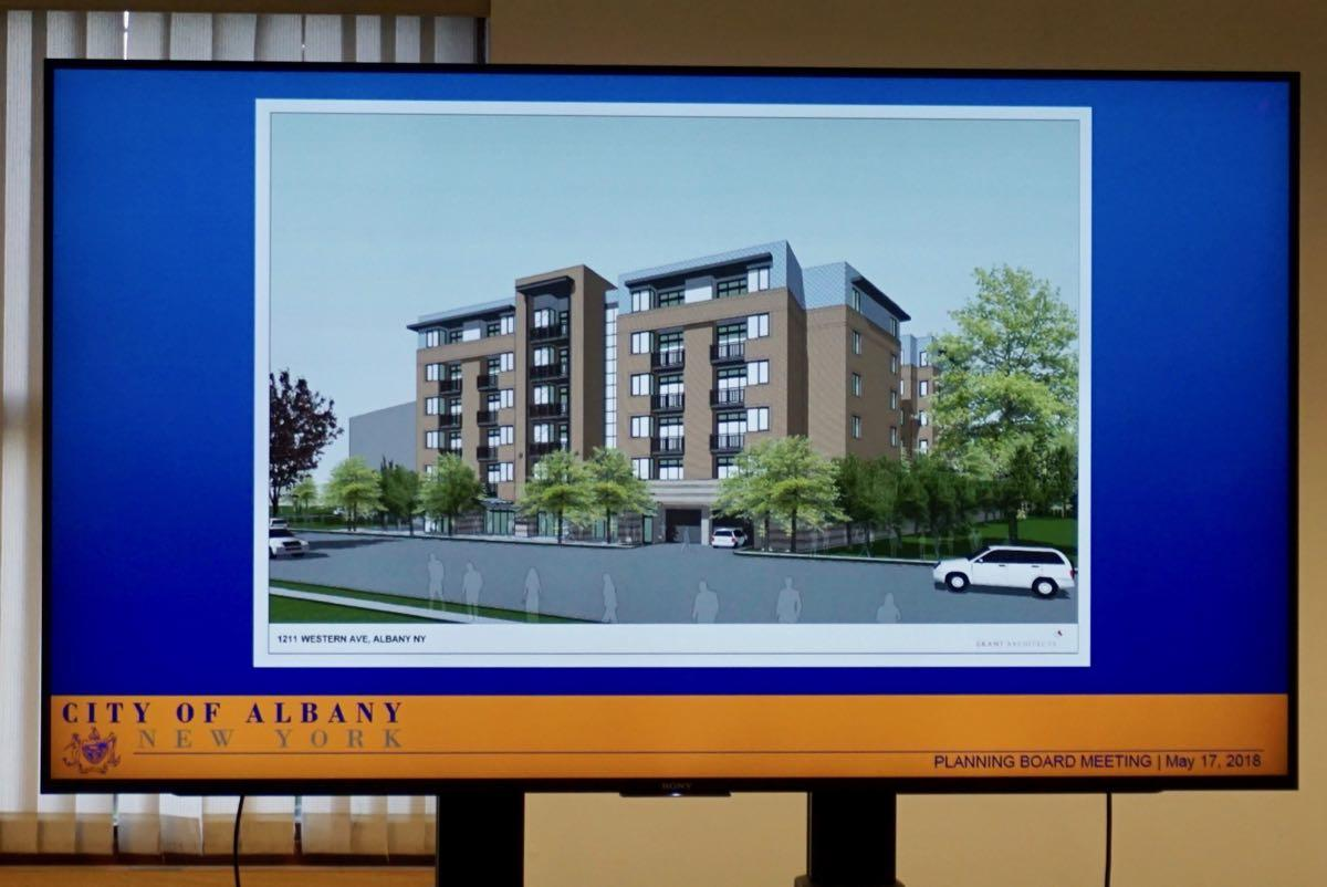 Albany planning board 2018-05-17 1211 Western Ave rendering