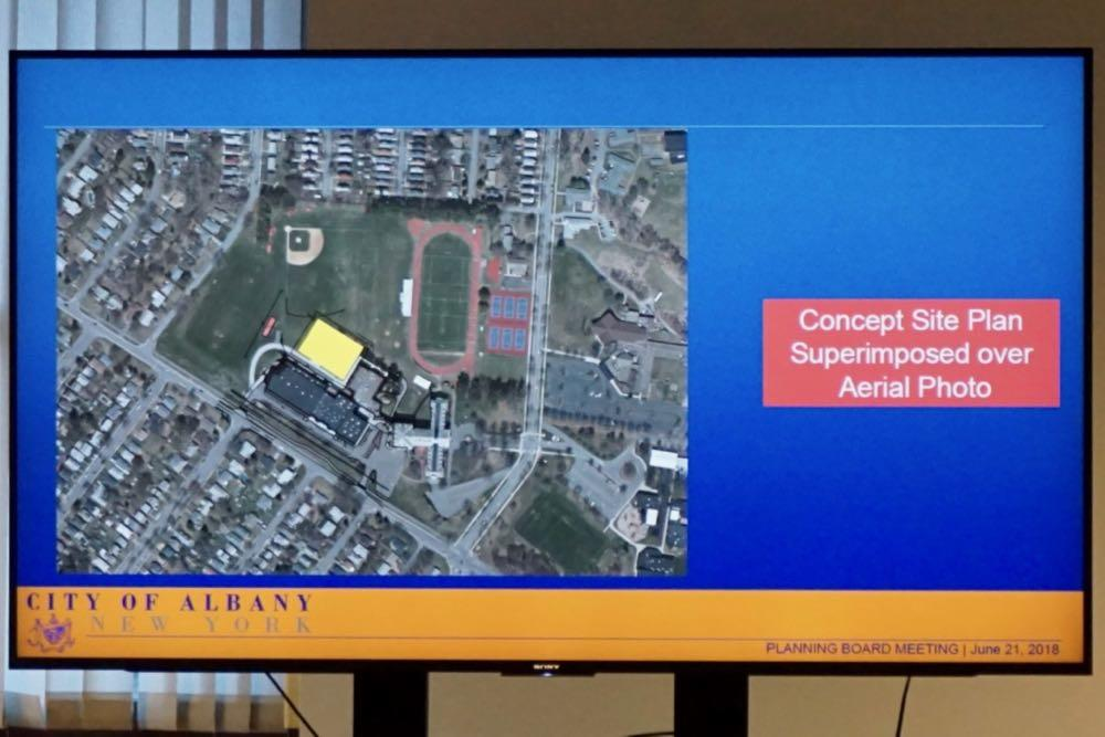 Albany planning board 2018-06-21 Albany Academy gym concept plan