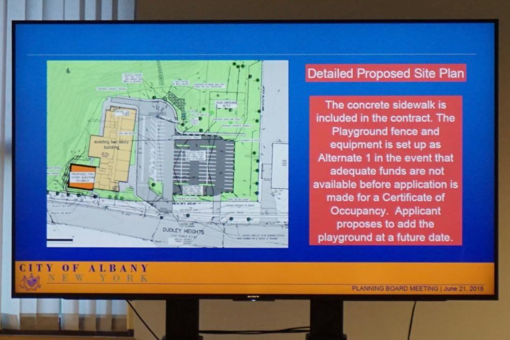 Albany planning board 2018-06-21 KIPP expansion site plan