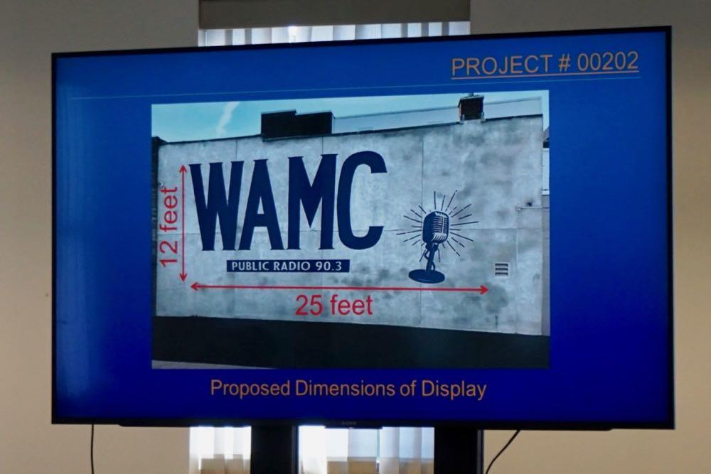 Albany planning board 2018-07-19 WAMC mural