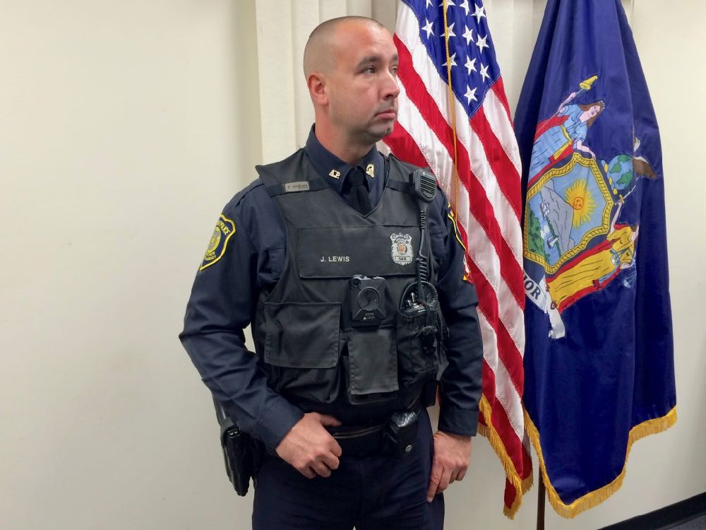 Albany police body camera officer Jimm Lewis