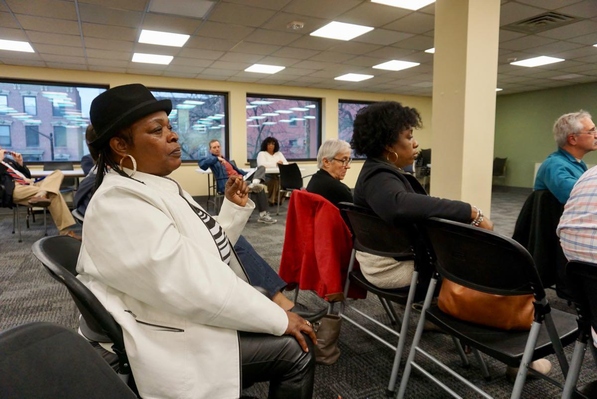 Albany police chief search forum 2018-04-16 crowd closeup
