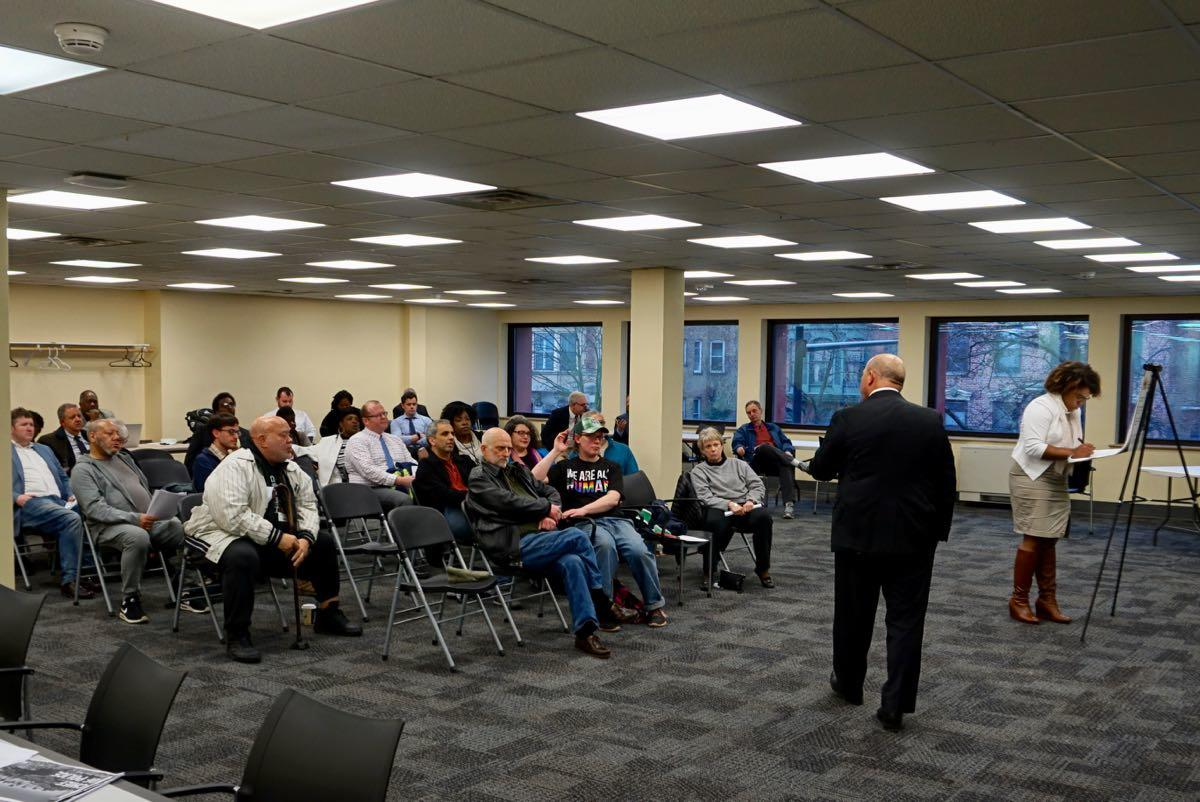 Albany police chief search forum 2018-04-16 crowd wide