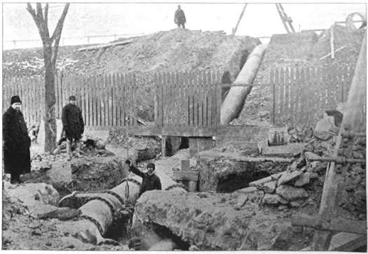 Albany water main Bleecker Reservoir c1898
