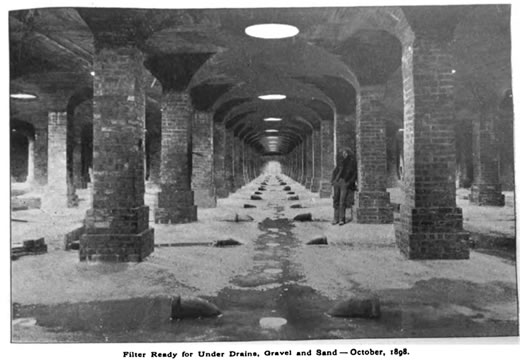 Albany water system filter plant 1898
