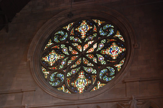 stained glass All Saints other rose paisley