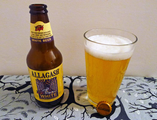 Allagash White bottle and glass