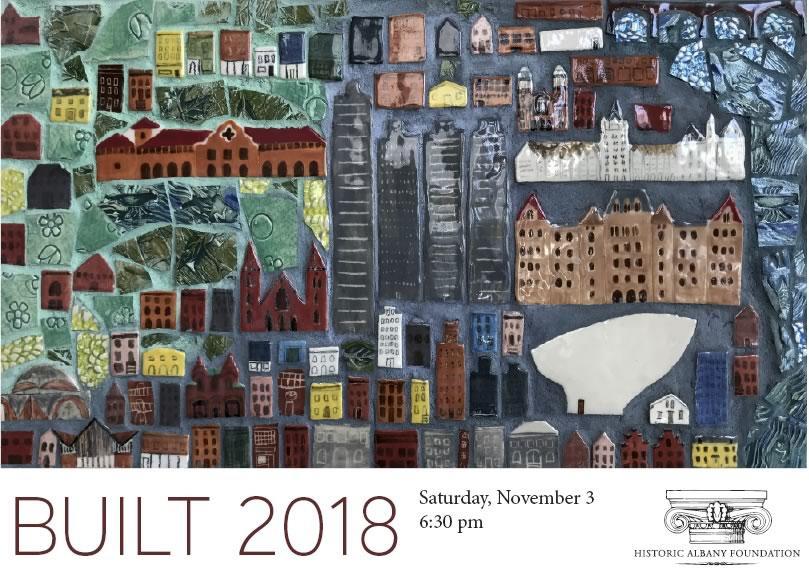 BUILT 2018 postcard
