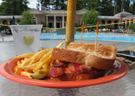 Bacon by the pool.JPG