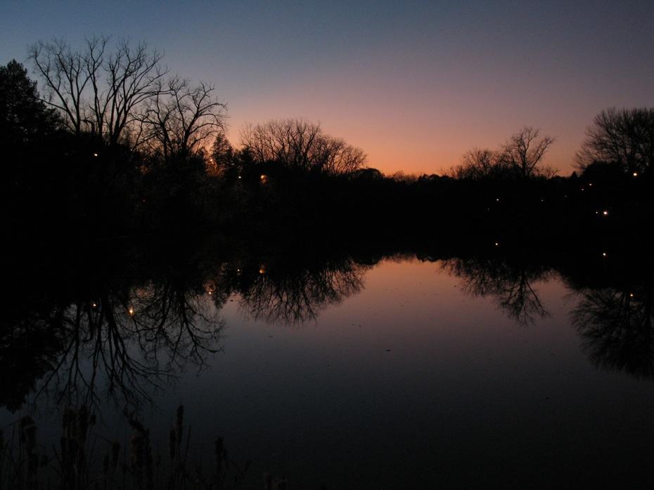 Buckingham Pond 2014-11-05 sunset reflection