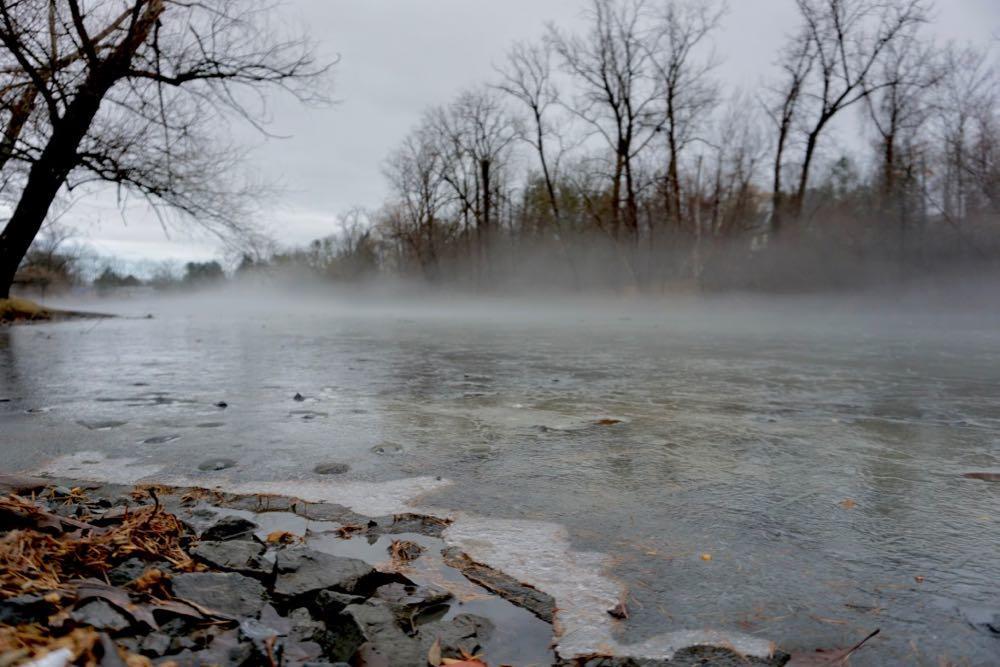 Buckingham Pond winter solstice 2018 fog