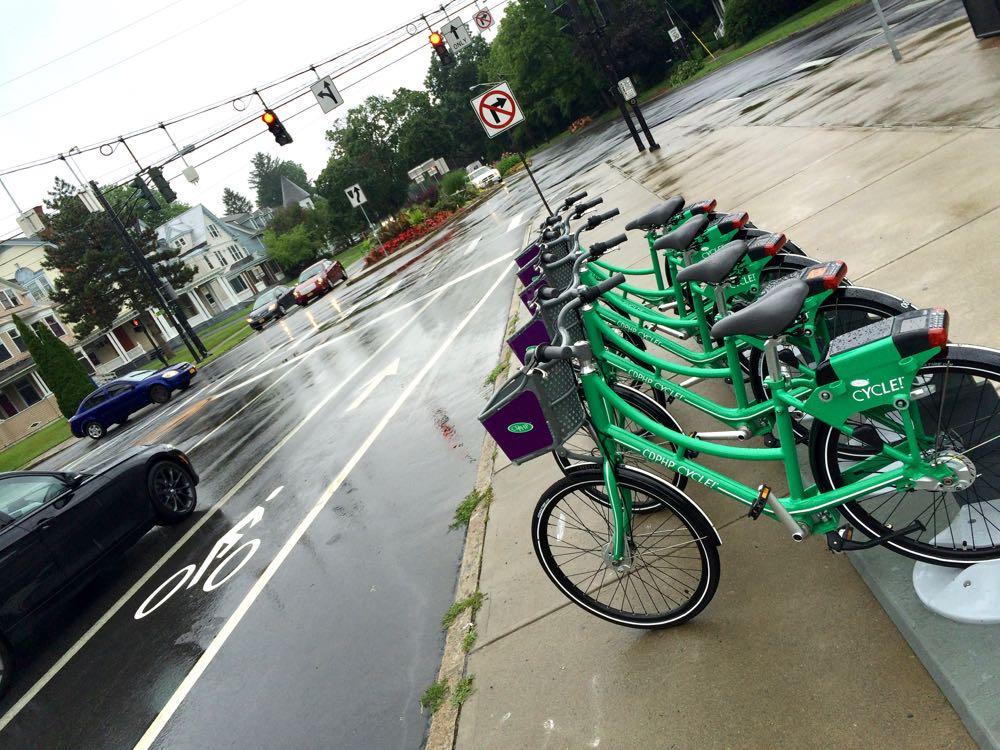 bike share hub near Madison and Western