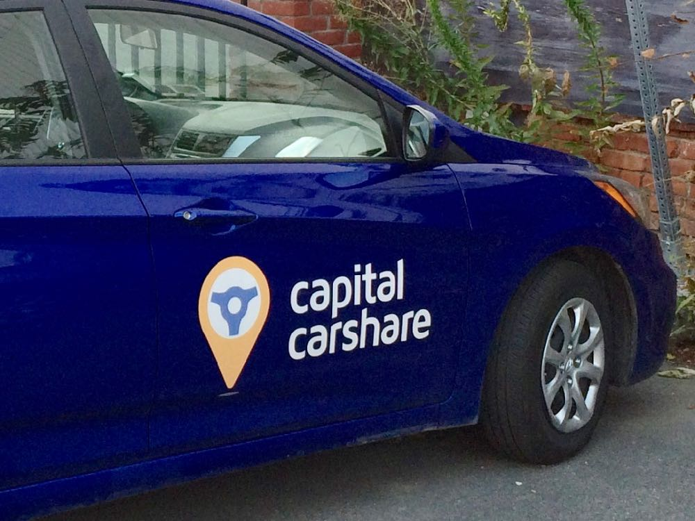 Capital CarShare door logo closeup