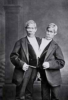 Chang and Eng twins via Wikipedia