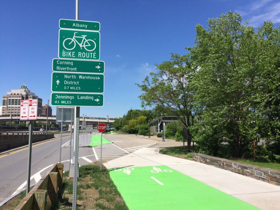 Corning Riverfront Park multi-use path