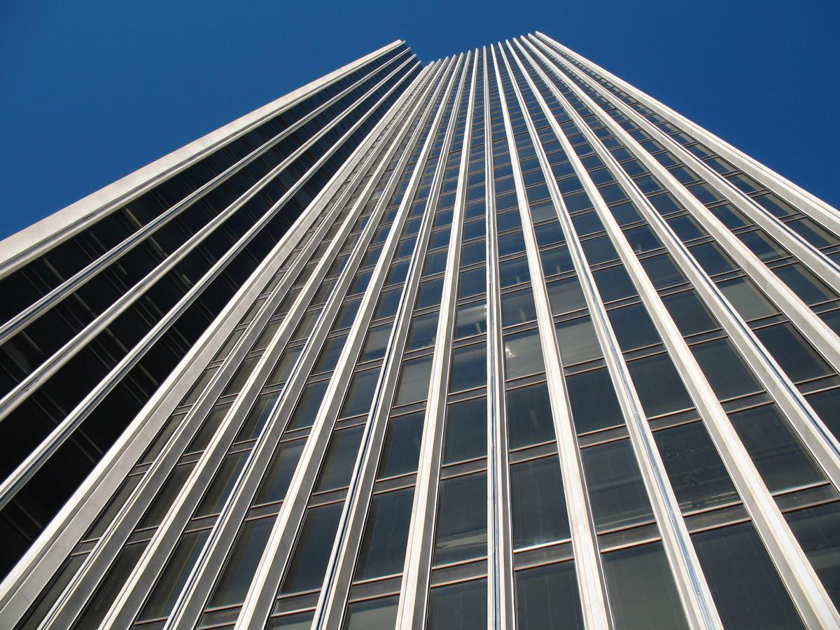 Corning Tower looking up, close up
