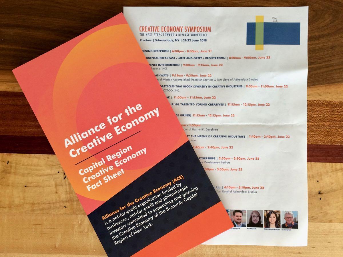 Creative Economy Symposium brochure