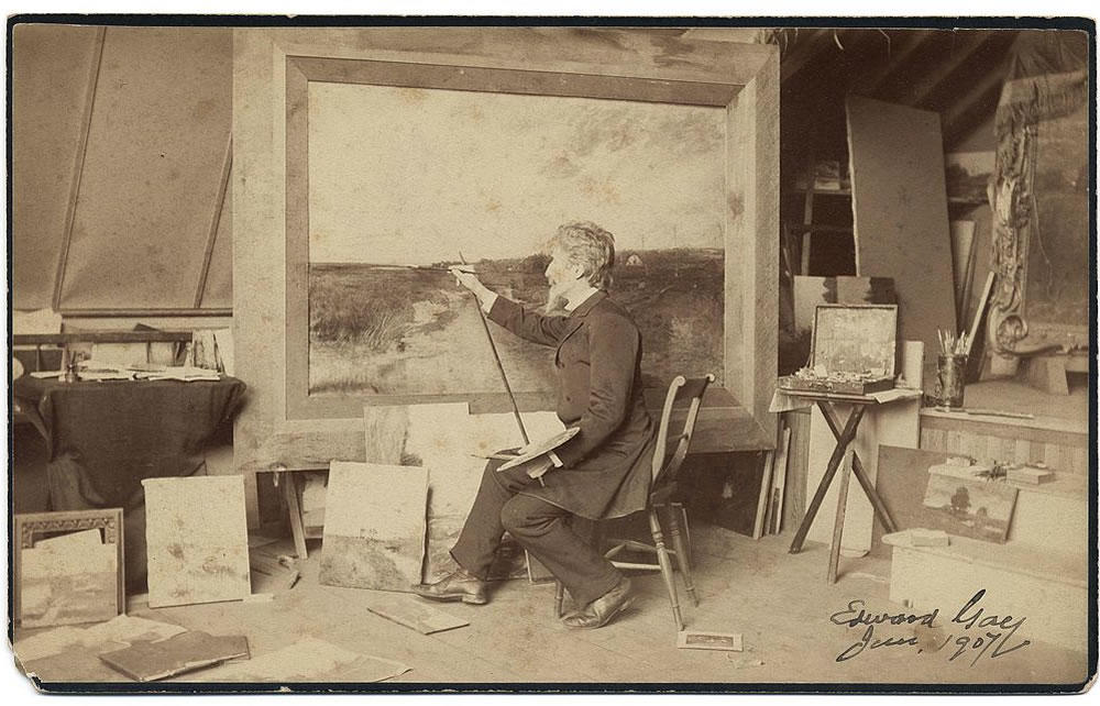Edward Gay at work in 1907
