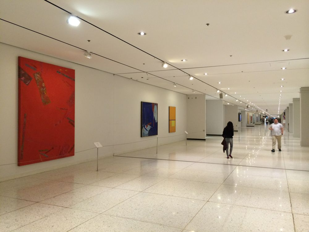 Empire State Plaza concourse with art