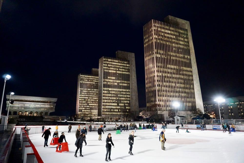 Empire State Plaza ice rink opening day 2018-11-30