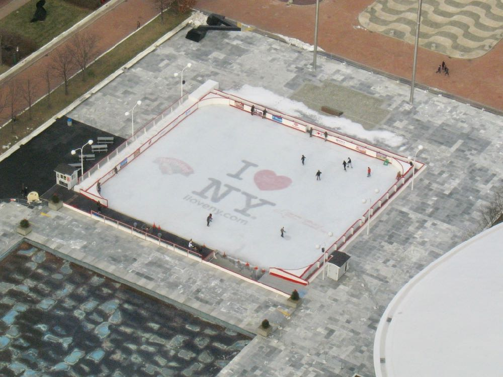 Empire State Plaza ice skating rink overhead 2017-January