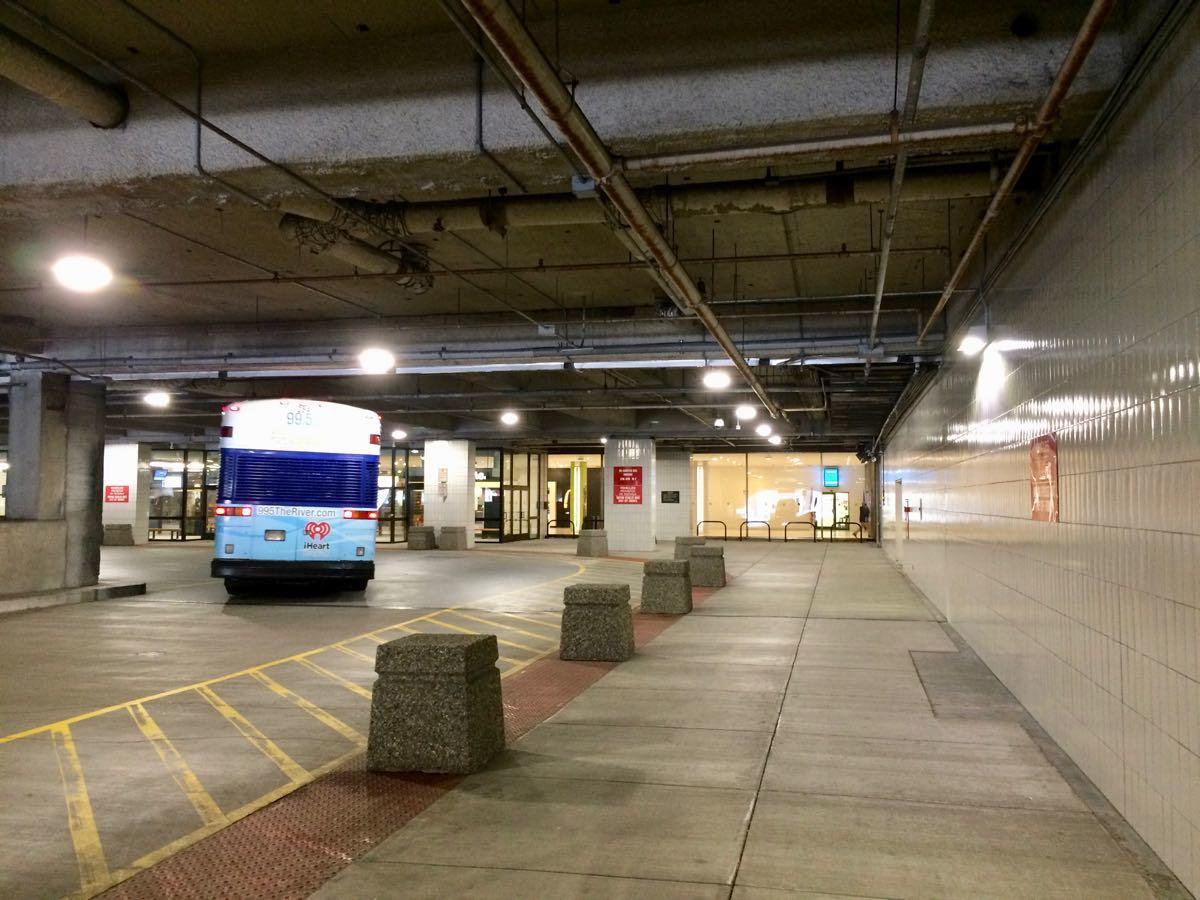 Empire State Plaza indoor bike parking bus turnaround