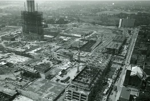 Empire State Plaza under construction 1968