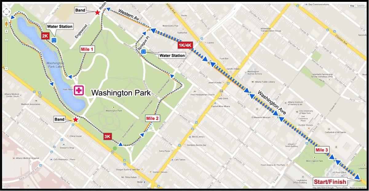 Freihofers Run for Women 5k course map