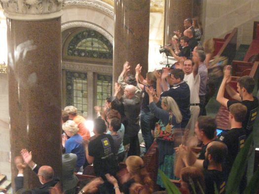 Senate gallery post same-sex marriage vote
