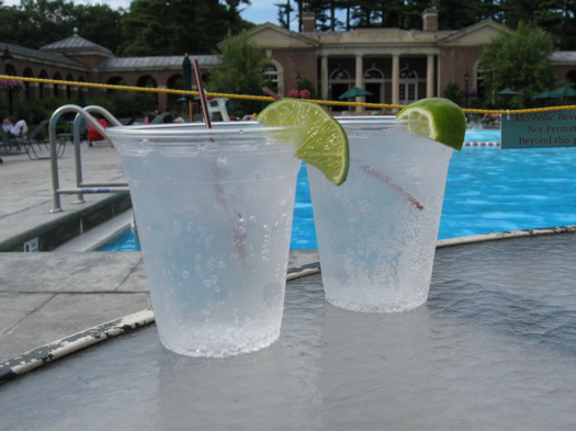 Gin & Tonic at the pool.JPG