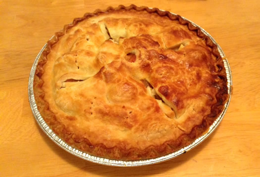 Green Acres apple pie overhead