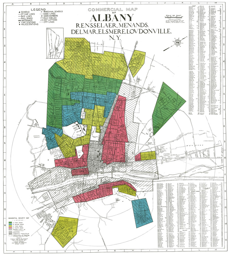 Mapping a history of inequality in Albany, Schenectady, and Troy ...