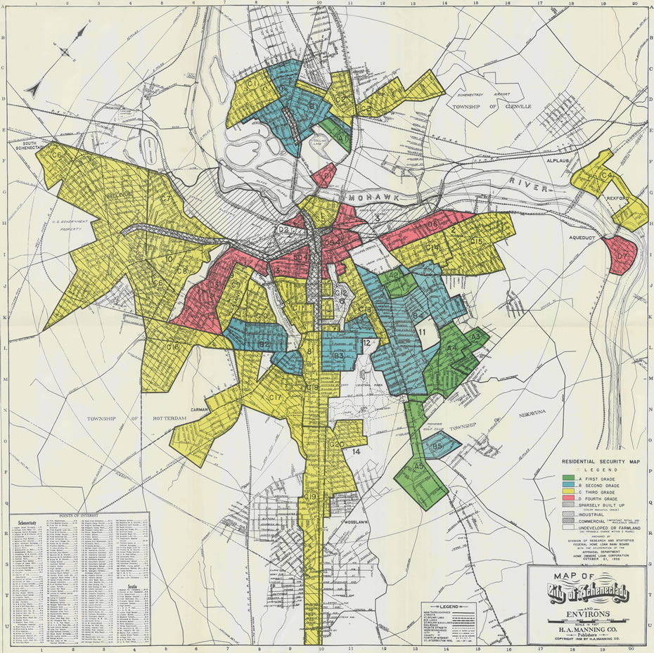 Mapping a history of inequality in Albany Schenectady and Troy