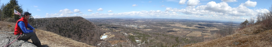 Hang Glider Cliff Panoramic