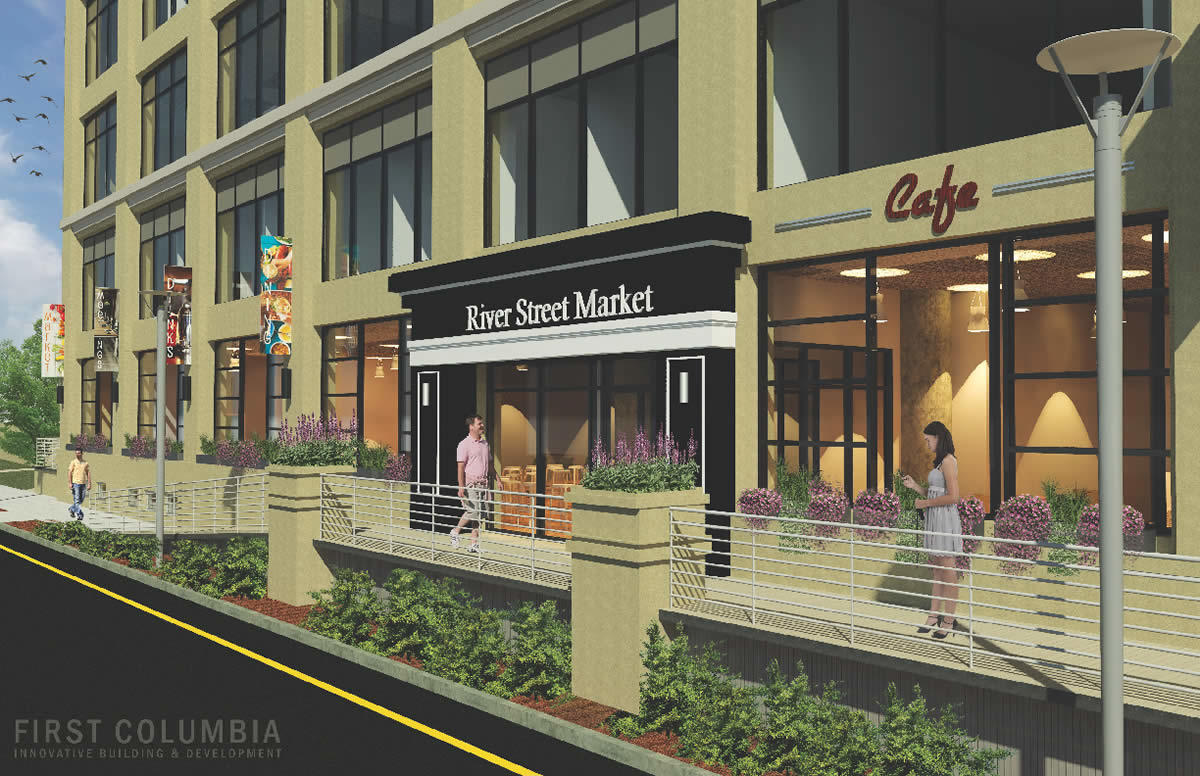 Hedley Building River Street Market rendering 2018-March