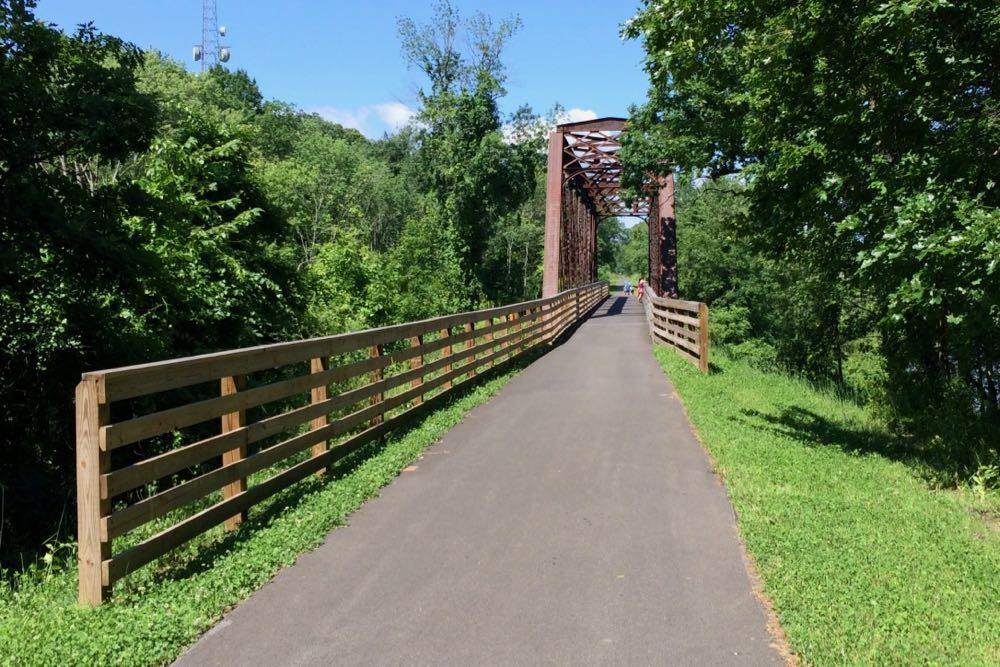 Helderberg Hudson Rail Trail Albany bridge 2017-July