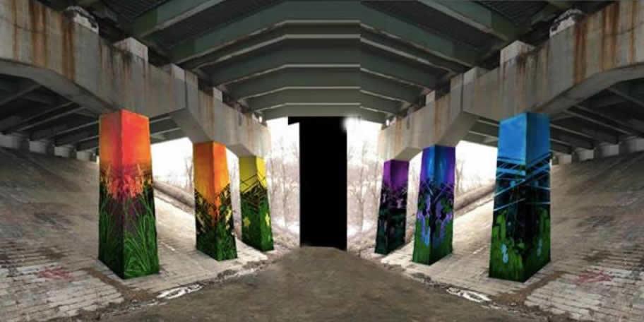 Helderberg Hudson Rail Trail Cherry Ave mural rendering