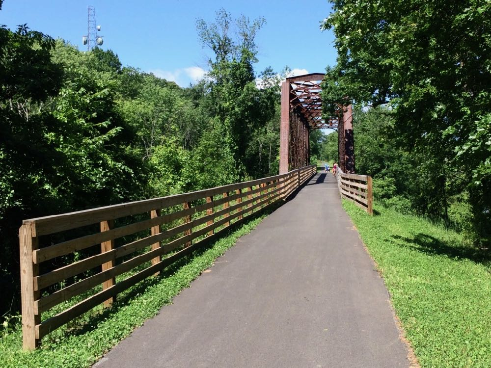 Helderberg Hudson Rail Trail bridge 2017-summer