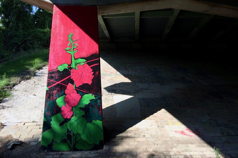 Helderberg Hudson Rail Trail mural Cherry Ave closeup v2