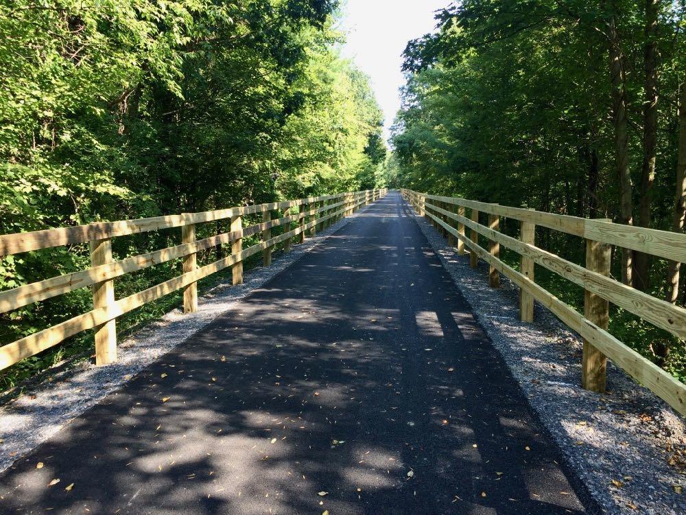 Helderberg Hudson Rail Trail past Slingerlands 2018-August