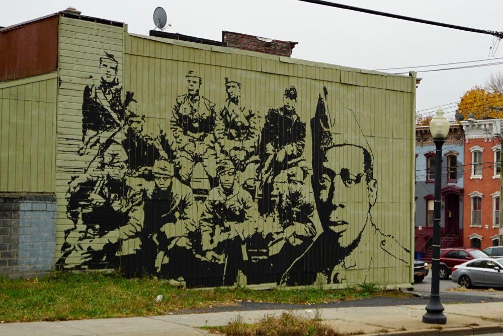 Henry Johnson Mural Henry Johnson Boulevard by Samson Contompasis